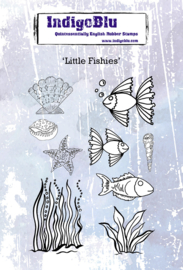 IndigoBlu Little Fishies A6 Rubber Stamps (IND0625)