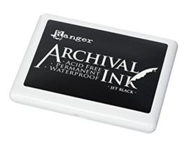 Ranger Archival Jumbo ink pad Jet Balck A3P06701