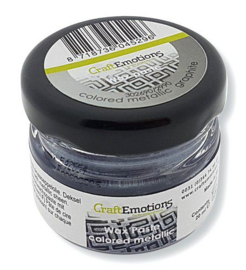 CraftEmotions Wax Paste metallic colored - grafiet 20 ml