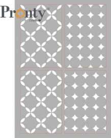 Pronty Mask stencil Retro Pattern 4 lagen 470.803.080 A4