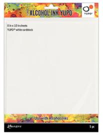Ranger ALCOHOL INK YUPO PAPER - WHITE, 8X10, 5PK TAC63346