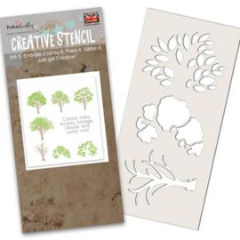 Polkadoodles Tree-mendous Stencil (PD8134)