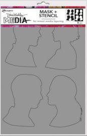 Ranger Dina Wakley Media Stencils Profiles MDS74885 Dina Wakley