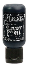 Ranger Dylusions Shimmer Paint Flip Cap Bottle - Black Marble DYU74366