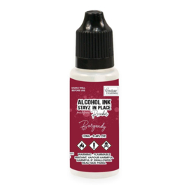 Couture Creations Stayz in Place Alcohol Ink Pearlescent Burgundy (12ml) Reinker (CO728212)