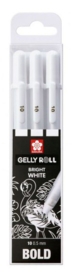 Sakura • Gelly roll gelpen 10 Wit 3stuks POXPGBWH3B