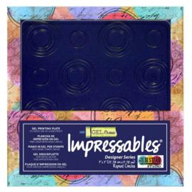 Gel Press Impressables - Squares in Squares 10815-SLM-01 17,8x17,8cm