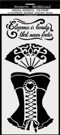 Stamperia Thick Stencil 12x25cm Corset (KSTDL39)