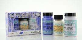 Cadence Very Chalky Home Decor set Paars lila - Leisteenblauw 01 002 0007 909050 90+90+50 ml
