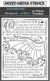 Stamperia Thick Stencil 15X20cm Sir Vagabond Wings (KSAT16)