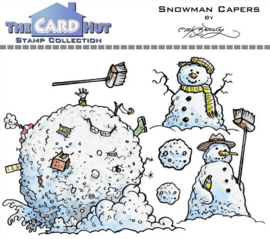 The Card Hut Snowman Capers Clear Stamps (MBWWSC)