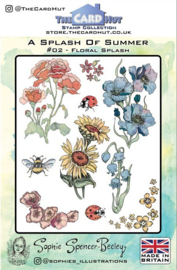 The Card Hut Floral Splash Clear Stamps (SSB002)