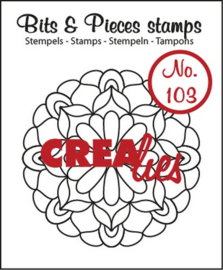 Crealies Clearstamp Bits&Pieces no. 103 Mandala C 44 mm / CLBP103