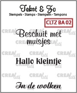 Crealies Clearstamp Tekst&Zo Baby 2 BA02