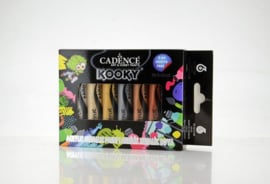 Cadence Kooky acryl metallverfset 15ml 6 st 11 005 0000 SET4 6x15ML