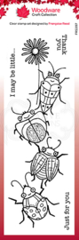 Woodware Francoise Read Beetle Flower 8 in x 2.6 in Clear stamp