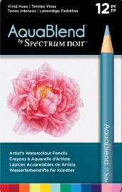 Spectrum Noir AquaBlend Potloden a 12 stuks - Levendige tinten