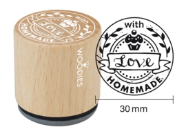 Woodies Homemade with love Rubber Stamp (WE5010)