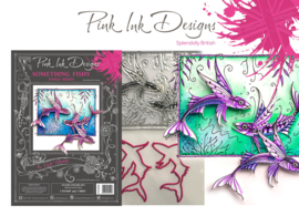 Pink Ink Designs A Cut Above Something Fishy Stamp & Die Set