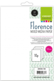 Florence • Paper mixed media A4 240g x10 white 200306-108