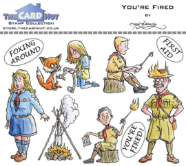 The Card Hut You're Fired Clear Stamps (MBOYF)