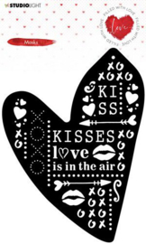 Studio Light Mask Stencil Filled With love nr.57 MASKFWL57 132x170mm