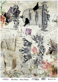 Cadence rijstpapier vogelkooi - kroontje Model No: 154
