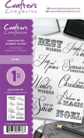 Crafter's Companion A6 Not Mounted Rubber Stamp - Noel
