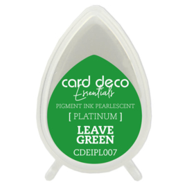 Card Deco Essentials Fast-Drying Pigment Ink Pearlescent Leave Green  CDEIPL007