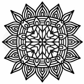 Woodware • Stencil Aztec mandala FRST039 17,4 x 17,4 cm
