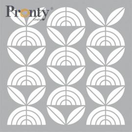 Pronty Mask stencil Retro Pattern Bloemen 470.801.057 15x15cm