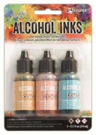 Ranger Alcohol Ink Kits Lakeshore  3x15ml  TAK25955 Tim Holtz 3x15ml