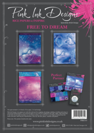 Pink ink rice paper Free to dream PIRIC03 A4
