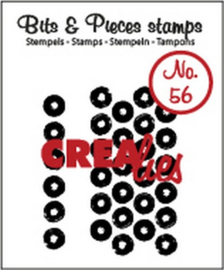 Crealies Clearstamp Bits&Pieces no. 56 grunge big dots