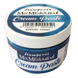 Stamperia Cream Paste Metallic Blue (150ml) (K3P53G)