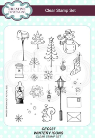 Wintery Icons A5 Clear Stamp Set CEC937