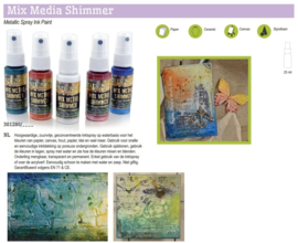 Cadence Mix Media Shimmer metallic spray