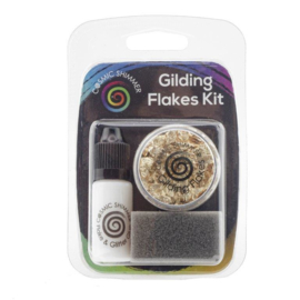 Cosmic Shimmer Gilding Flakes Kit Golden Jewels