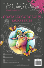 Pink Ink Designs Goatally Gorgeous A5 Clear Stamp Set