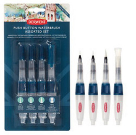 Derwent Push Button Water Brush Set DWB2305816