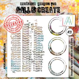"""AALL & Create 6""""x6"""" Stencil #22"""