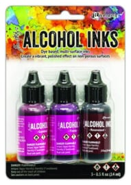 Ranger Alcohol Ink Ink Kits Pink/Red Spectrum 3x15 ml TAK69638 Tim Holtz