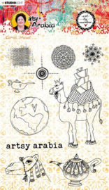 Studio Light Art By Marlene Clear Stamp Artsy Arabia nr.60 STAMPBM60 148x210mm