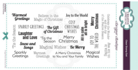 Creative Expressions • Festive sentiments clear stamp  UMSDB023