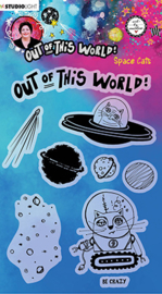 ABM-OOTW-STAMP71 ABM Clear Stamp Space Cats Out Of This World nr.71