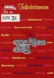 Crealies Tekststans - een fijne dag CLTS31