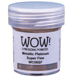 Wow! Metallic Colours Platinum WC06SF 15ml / Super Fine