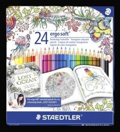 Staedtler Ergosoft Johanna Basford kleurpotlood Box 24 st. 157 C24JB