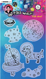 ABM-OOTW-STAMP69 ABM Clear Stamp Walk-about Out Of This World nr.69