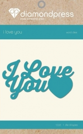 Diamant Pers Diamond Press Woorden snijmal - I Love You DP1191